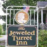 Jeweled Turret Inn sign