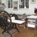 the printmaking workshop