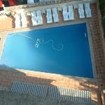high shot of pool