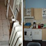 Bad und verdreckte Küche