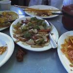 Mango chicken, Prawns & Beef