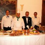 The staff and weekly buffet