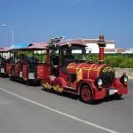 Road train that travels around the resort (7 euros for full trip / 4 euros for half trip)