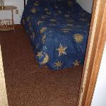 Outa date carpets in the bedrooms
