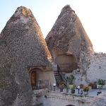 The Kelebek has some rooms in these fairy chimneys