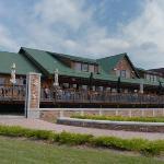 Blue Moose Restaurant alonger the Red River in East Grand Forks, MN