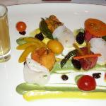 Appetizer with Tomato Water