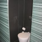 The glass boxed toilet!