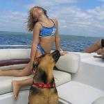 Emily and Buzz enjoy boating on St. Joe Bay