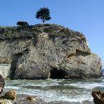 Arched rock at beach
