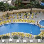 The pool from the 5th floor