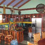 The kitchen in our villa