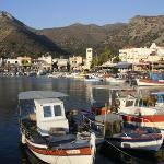 Elounda harbour just after sunrise.