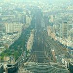 Montparnasse Stn from Montparnasse Tower. (58th floor)