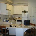 fully equiped kitchen (from the livingroom)