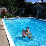 The kids enjoying the lovely pool