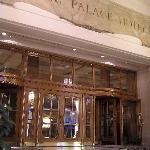 Porticoed entrance to hotel