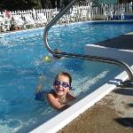 The kids loved the heated pool