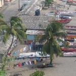 A typical St Lucian costal town