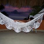 sunset nap in our hammock
