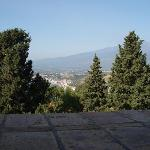 View from breakfast terrace of Etna