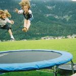 Trampolining at the See Alm