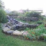 Cascading Waterfall in Garden