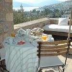 """The Ada's """"special breakfast"""" served out on our private terrace."""