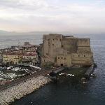 Castel dell'Ovo (Capri in distance)