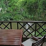 Balcony of the standard double room with garden view.