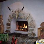 The Burro fireplace