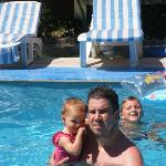 Me and my daughter in one of the pools