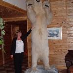 Polar bear in entrance