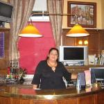 The very friendly and nice lady at the front desk