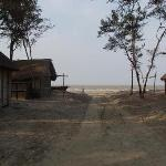 The trail to Fraserganj beach - the houses are part of a fishermen colony