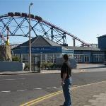 Front of BBlue Hotel, Pleasure beach behind