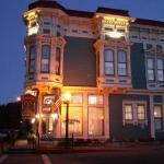 The Beautiful Victorian Inn at Sunset