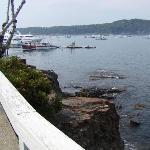 Entering harbor area