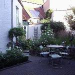 The garden outside the breakfast room