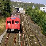 T-banen in Oslo suburbs