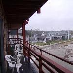 The deck and concrete boardwalk
