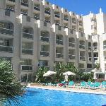 hotel and poolarea