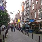 The Rookies (Uptown) Hotel is on a little street off Leidensplein - on the right of this photo.