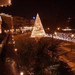 Schön geschmückte Fussgängerzone zu Weihnachten