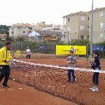 Schöne Tennisanlage
