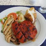 Lunch at the seaside grill!  The chorizo is awesome!