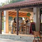 Poolside bar at Nostos