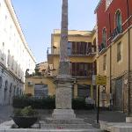 The Egyptian Obelisk 88AD located in Piazza Papiniano off Corso Garibaldi in downtown Benevento