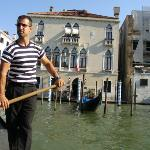 Gondolla to Fish Market across Grand Canal with Foscari Palace in background