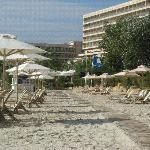 The busy beach